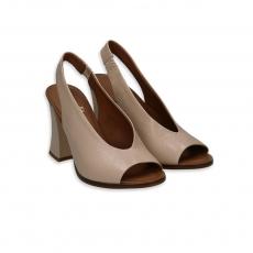 Eggshell goatskin sandal heel 80