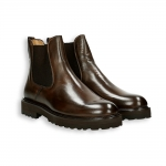 Brown calf Chelsea boot rubber sole