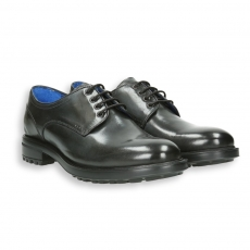 Anthracite leather derby rubber sole Xtra light