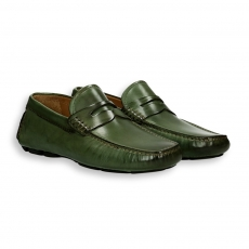 Green calf Carshoe Loafer