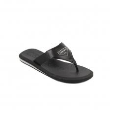 Black Leath. Flip-flop rubber sole