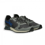 Running grey suede and black nylon with blu detail rubber sole