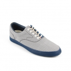 Blue Checkered fabric Sneakers