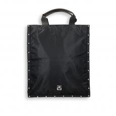 Vertical flat bag black sail fabric and studs