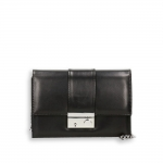 Pocket bag with shoulder chain black napa calf size 22x7h15 cm.