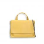 Yellow elk calf small flap Bag with shoulder belt size 27x10h19 cm.