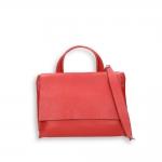 Red elk calf small flap Bag with shoulder belt size 27x10h19 cm.