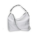 White leather crossed shoulder belt Shopping size 35x15h32 cm.