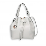 White calf bucket bag size 26x15h29 cm.
