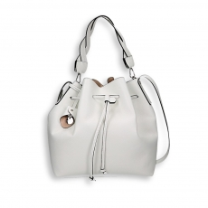 White calf bucket bag size 26x15h29 cm.