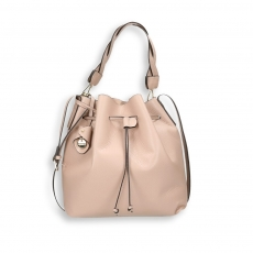 Powder calf bucket bag size 26x15h29 cm.