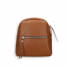 Brown calf big zipped backpack size 28x12h34 cm.