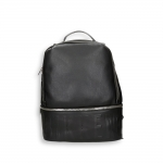 Black eco leather logo backpack size cm.31x14h40